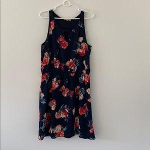 Navy Patterned Summer Dress